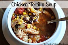 I made this today. Very easy, very yummy, and not mushy like some crockpot stuff can be. Easy Crock Pot Recipes - Chicken Tortilla Soup