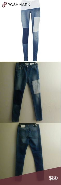 Zoe Karssen Electric Patch Skinny Jeans Low rise skinny  Regular length These jeans is super cute and trendy Zoe Karssen Jeans