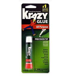 Krazy Glue All Purpose 0.07 Oz (6 Pack), 2015 Amazon Top Rated Cyanoacrylate Adhesives #OfficeProduct