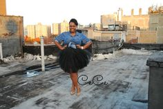Love this pic of CeCe of Plus Size Princess in her black tutu/denim shirt! LOVE IT! #plussize #fashion #style Check out her blog here; http://www.thebiggirlblog.com/2013/11/love-plus-size-fall-fashion-lookbookforall/