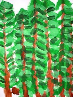 After viewing the paintings of Emily Carr, the third grade students were inspired to create forest paintings! Emily Carr is a Canadian arti. Forest Painting, Forest Art, Kindergarten Art, Preschool Art, Preschool Themes, 2nd Grade Art, Third Grade, School Art Projects, School Ideas