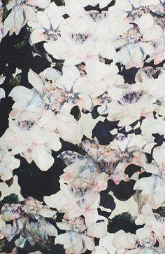 Black floral print