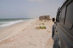 Land Rover Defender in the beach Nouakchott, Mauritanie #ani4x4