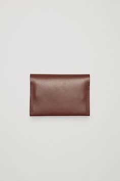 COS Folded leather cardholder in Dark Brown