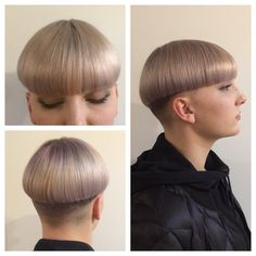 Bowl cut styled smooth #colorandcutbyme #precision #mizutani…