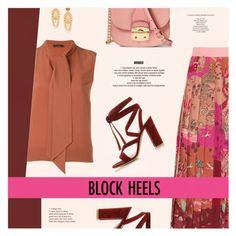 """Step Up: Block Heels"" by redflowergirl ❤ liked on Polyvore featuring Valentino, Dolce&Gabbana, Miu Miu, Roberto Collina, Gianvito Rossi, StyleNanda and blockheels"