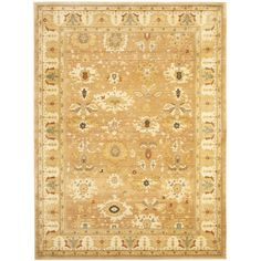Based on sophisticated traditonal Oushak designs and dense, thick pile highlight this powerloomed rug. Designed with today's decor's in mind, this rug uses open fields and soft, easy to design with palettes.