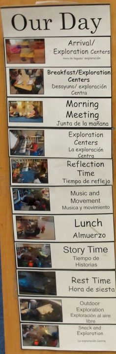 Daily Schedule: The children help with the daily schedule. Via: http://reggioinspiredteacher.blogspot.co.uk/2013/03/creating-community.html