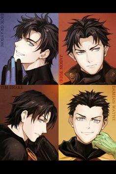 Robins, manga style.