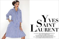 Vintage Yves Saint Laurent womenswear editorial starring model Charlotte Blouet.