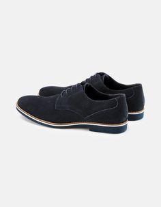 Derby cuir uni effet daim - GYDERBY - Celio France Derby Homme, Celio,  Chaussures eb49ebef154