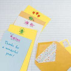 Fingerprint Stationary - cute gift for teachers!