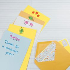 Let teachers know they made a big impression with a set of (truly) hand-printed cards and envelopes. Bundled with stamps, this one-of-a-kind gift will make summer correspondence even more fun.