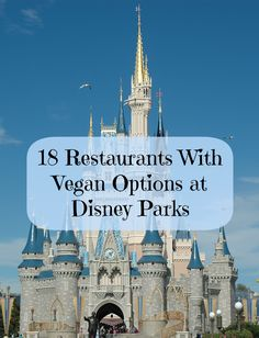 Vegan options at Disney Parks