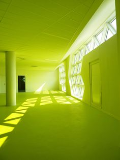 Image 11 of 16 from gallery of Georges-Freche School of Hotel Management / Massimiliano and Doriana Fuksas. Georges-Freche School of Hotel Management / Massimiliano and Doriana Fuksas Montpellier, Chartreuse Color, Green Colors, Colours, Green Life, Go Green, Architecture Magazines, Aesthetic Colors, Jolie Photo