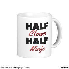 Half Clown Half Ninja Classic White Coffee Mug