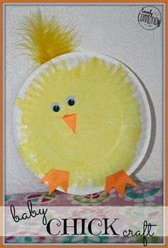 5 adorable bunny masks for Easter - simple baby chick craft for Easter . - 5 Adorable Bunny Masks For Easter – Simple Baby Chick Craft For Easter – - Farm Animal Crafts, Farm Crafts, Daycare Crafts, Classroom Crafts, Egg Crafts, Easter Art, Easter Crafts For Kids, Easter Ideas, Crafts For 3 Year Olds