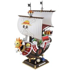 One Piece: Thousand Sunny Ship New World Ver. Plastic Model Kit Full Color Thousand Sunny Model Ship , New World Version, easy to assemble, includes One Piece unpainted figures One Piece Figur, Anime Figures, Action Figures, One Piece Merchandise, One Piece New World, Hobby Horse, One Piece Luffy, Kawaii, Cosplay