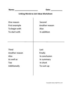 no linking verbs in essay
