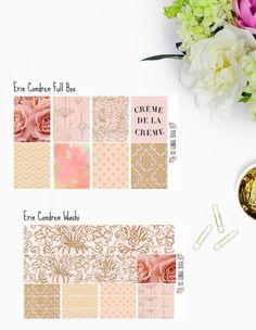 Blush Creme De La Creme Sticker Kit Planner Stickers  for