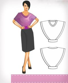 50 new ideas sewing simple thoughts Clothing Patterns, Sewing Patterns, Model Outfits, Sewing Clothes, Diy Fashion, Needlework, Sewing Projects, Boho, Lady