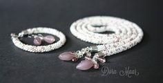 beaded necklace, długi naszyjnik z koralików #doramaar