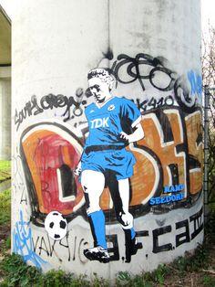 Graffiti de Marco van Basten en el Amsterdam Arena