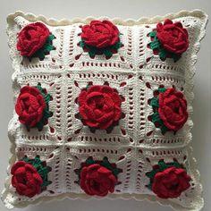 Diy Crochet 6 Petal Puff Stitch Flower Blanket - Page 3 of 31 - Free Crochet Patterns Crochet Flower Squares, Flower Granny Square, Crochet Flower Tutorial, Crochet Diy, Crochet Quilt, Granny Square Crochet Pattern, Crochet Pillow, Crochet Flower Patterns, Afghan Crochet Patterns