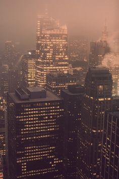 #city #skyscrapers #life #night