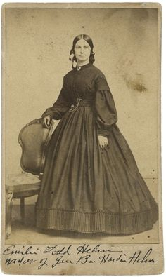 "October 30, 1864.  In Autumn 1864, Mary Lincoln's half sister Emilie Todd Helm asked the president for a travel pass to tend to business affairs in the South.  When he refused, she wrote an angry letter chiding him that ""your minnie bullets have made us what we are."""