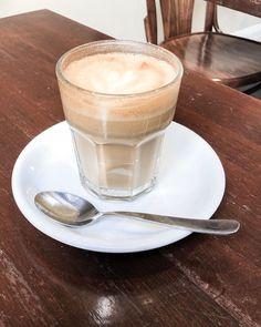 Latte with oat milk at the V&V Cafe in Glasgow, Scotland Glasgow Scotland, Coffee Latte, Mocha, Panna Cotta, Milk, Vegan, Tableware, Ethnic Recipes, Food