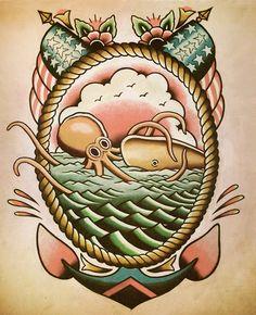 Nautical Octopus Flash