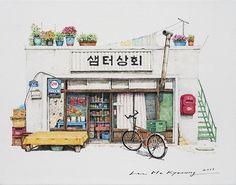 Charmants Croquis d'Épiceries en Corée du Sud (2)