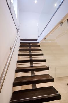80mm thick solid fumed Cumbrian oak steps. Stairway to Heaven, well Maryport anyhow.