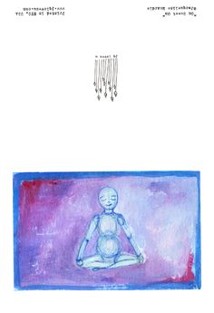 This meditation yoga note card is blank inside and 4.5 w  x 5.5l inches folded. It can be bought as an individual card or in a box of 7 mixed yoga cards and 1 lotus flower image.  They are off set printed on partial recycled paper and come with an A2 envelope. www.jqlovesu.com