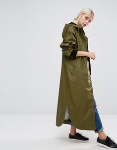 Image 1 of Monki Longline Rain Coat