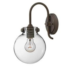 View the Hinkley Lighting 3174 1 Light Indoor Wall Sconce with Clear Globe Shade from the Congress Collection at LightingDirect.com.