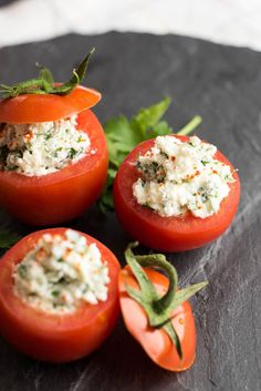 Really nice recipes. Every hour. • CHEESE STUFFED TOMATOES Really nice recipes. Every...