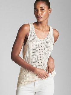 We offer discount womens clothing in the latest styles of the season. Knitwear Fashion, Knit Fashion, Mode Crochet, Crochet Top, Bikinis Crochet, Summer Knitting, Jumpers For Women, Crochet Clothes, Women Wear