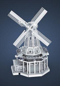 Metal Earth 3D Laser Cut Model Windmill
