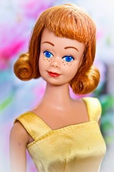 Vintage Midge, Barbie's best friend! I had this redhead too. Always had a thing for redheads...thanks Lucy!