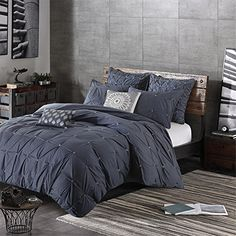3 Piece Comforter Mini Set NavyKingCal King * You can get additional details at the image link.-It is an affiliate link to Amazon. #Bedding