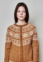 sweater (earthy, yoke, detailed)