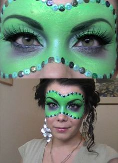 Halloween makeup mask. Perfect for wicked witch look!