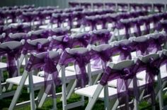 Bows on ceremony chairs for added elegance