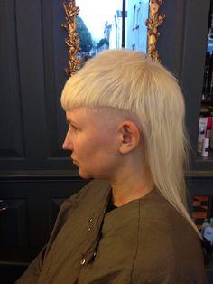 Edgy hair, undercut platinum olaplex. Yolandi Visser inspired