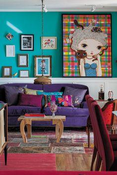 Revista J.P: o apartamento multicor da artista plástica Nina Pandolfo | Notas | Glamurama