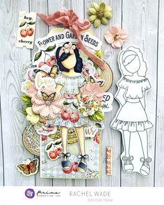 Bunny*Stamping Stamp Sets Card PRIMA MARKETING Julie Nutting Doll Stamp /& Dies