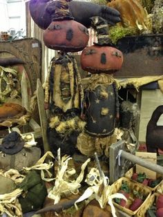 Just letting you all know that our Autumn At The Mill fall open house will be August 23 from and August 25 from Lots of great g. Primitive Scarecrows, Primitive Autumn, Primitive Pumpkin, Primitive Crafts, Halloween Doll, Cute Halloween, Vintage Halloween, Halloween Crafts, Cowboy Christmas