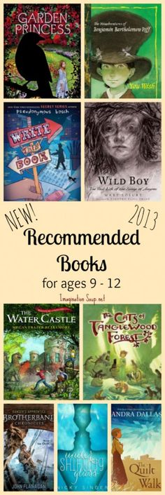 I'm excited to recommend these NEW mIddle grade chapter books (published in 2013) for ages 9 - 12 -- all have reviews!